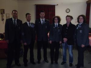 (v.l.) Patrick Wick, Marco Hauß, Roman Hauß, Angelika Trentino, Joachim Mölder und Birgit Gibfried