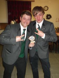 Sieger des Registerpokals 2014 - (v.l.) John-Patrick Busch und David Giesel