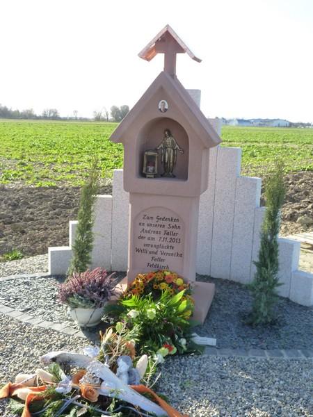 Einweihung der Gedenkstätte für Andreas Faller