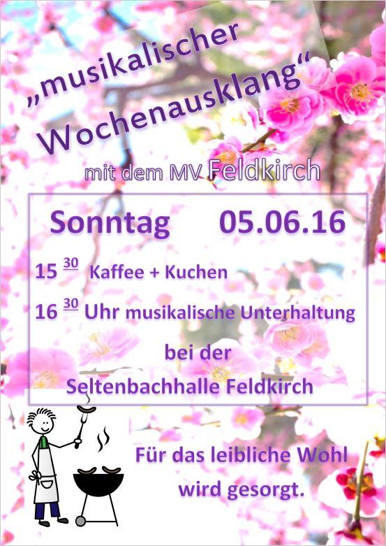 Plakat Musikalischer Wochenendausklang 2016