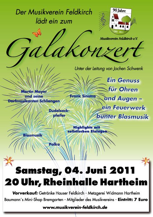 Galakonzert am 4. Juni